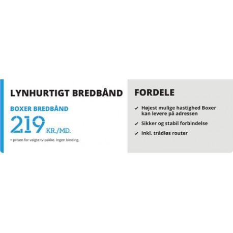 BOXER BREDBÅND 219,- pr. mdr.
